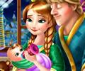 Acalmando o bebê da princesa Ana
