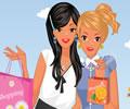 Amigas Comprando no Shopping