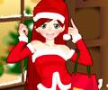 Animada para a Festa de Natal