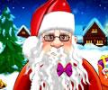 Aparando os Cabelos e a Barba do Papai Noel