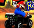 Corrida do Mario kart na chuva