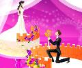 Criatividade na montagem do bolo de casamento