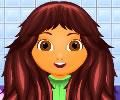 Cuidando dos cabelos de Dora