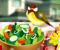 Decorando a mesa de comida no verão