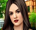 Fazendo uma bela maquiagem em Lucy Hale