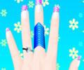 Flower Manicure - Pintando unhas floridas