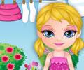 Lavando e estendendo as roupas da Barbie