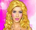Maquiando Christina Aguilera