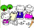 Pintando a Hello Kitty e sua familia