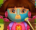Tratamento no rosto e maquiagem em Dora