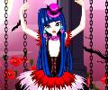 Vestindo a bailarina gótica