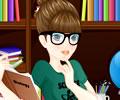 Vestindo a Garota Estudando Nerd