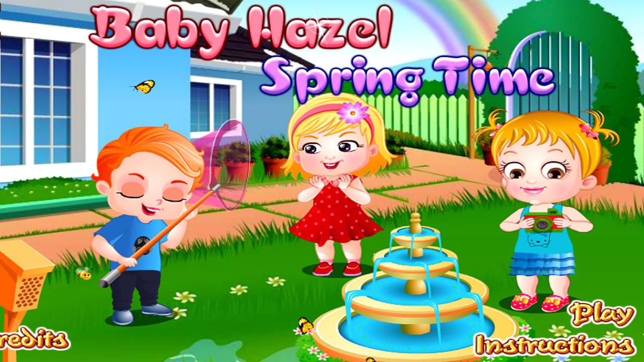 Baby Hazel se divertindo na primavera
