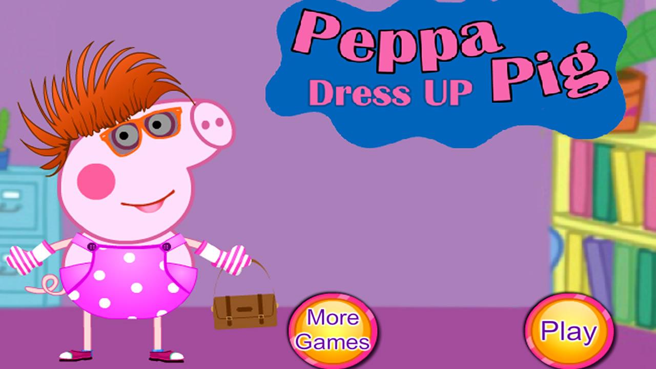 Vestindo roupas e acessórios na Peppa