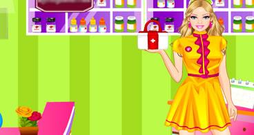 Barbie vestida de farmacêutica