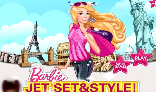 Barbie vestida para viajar
