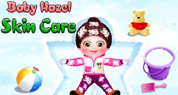 Cuidando da bebê Hazel no inverno