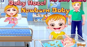 Cuidando da nova irmã de Baby Hazel