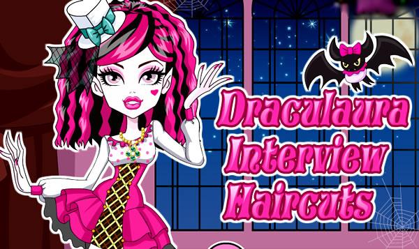 Embelezando a Draculaura Monster High para a entrevista