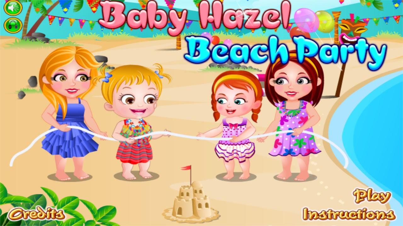 Na praia com a Baby Hazel