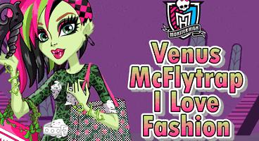 Venus McFlytrap adorando a moda fashion