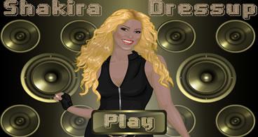 Vestindo e Maquiando Shakira
